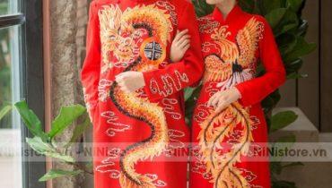 Top 15 Mẫu áo dài Gấm đỏ cô dâu mới đẹp nhất 2021