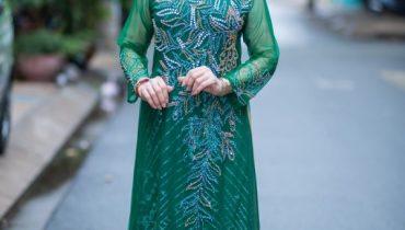50 mẫu áo dài trung niên đám cưới đẹp sang trọng 2021