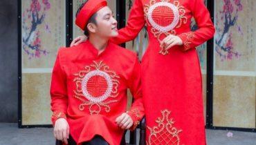 Áo dài màu đỏ mặc với quần màu gì, giày màu gì. Cách phối đồ đẹp