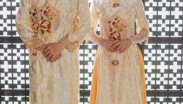Cho thuê áo dài cách tân bưng quả đẹp mới nhất 2021 cho nam nữ