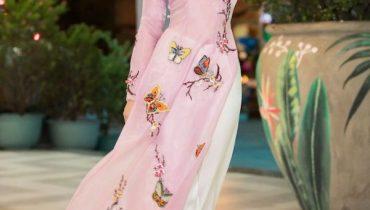 10+ mẫu áo dài kết hoa rơi, kết bông đơn giản đến đẹp nhất 2021