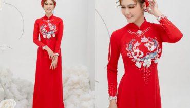Top 10 mẫu mấn áo dài cưới cô dâu đẹp xu hướng hot 2020