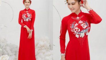 Top 10 mẫu mấn áo dài cưới cô dâu đẹp xu hướng hot 2021