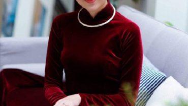 10+ Mẫu áo dài cưới nhung đỏ cô dâu mặc đẹp nhất 2021