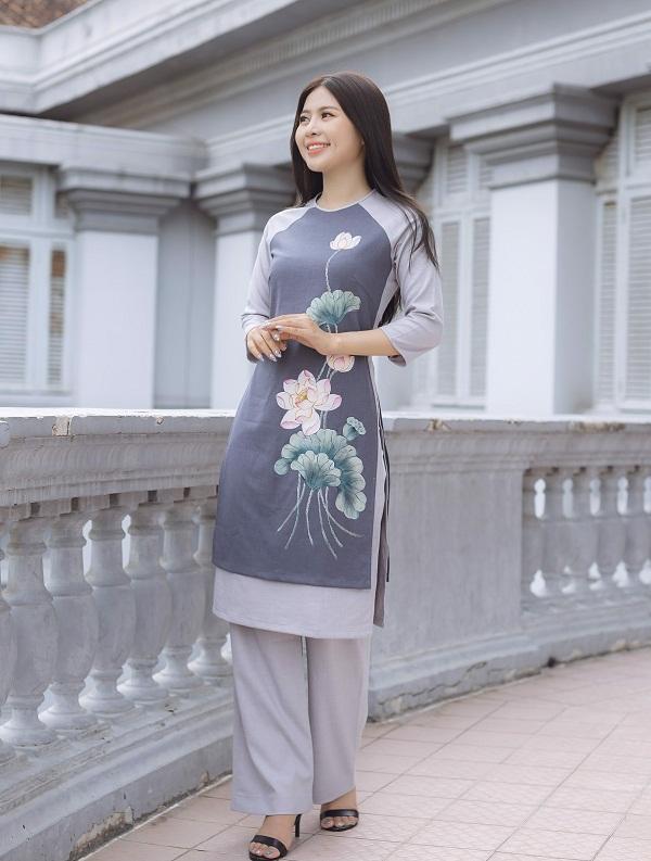Top 100+ Mẫu áo dài Linen (cách tân, tay thêu) đẹp nhất 2021